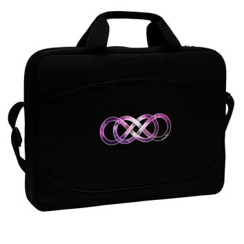 "Double Infinity Galaxy 15"" Dark Laptop / Tablet Case Bag"