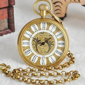 Roman Numeral & Gold Pocket Watch