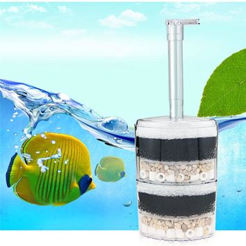 Boutique Aquarium filter accessories air-operated Efficient Economy Aquarium Internal Corner In Tank Filters Fish Tank equipment