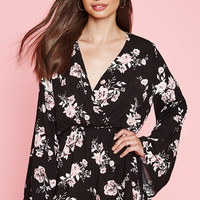 Kendall and Kylie Bell Sleeve Surplice Romper at PacSun.com