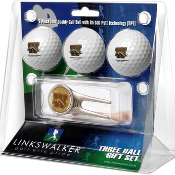 Western Michigan Broncos Cap Tool 3 Ball Gift Pack
