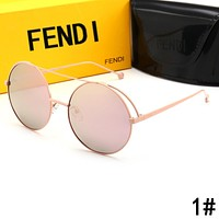 FENDI Summer Popular Women Chic Cute Circular Summer Shades Eyeglasses Glasses Sunglasses
