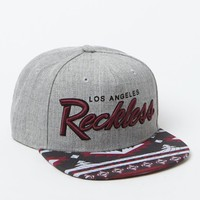 Young & Reckless OG Reckless Tribal Print Snapback Hat - Mens Backpack - Gray/Burgundy - One