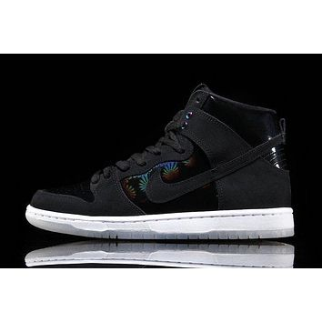 nike sb dunk high elite black iridescent 854851 001