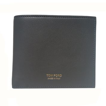 Tom Ford Men's Classic Gray Leather Bifold Billfold Wallet Y01310