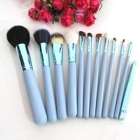 12pcs Professional Cosmetic Makeup Brush Set Leather Cup Holder Case Kit Powder