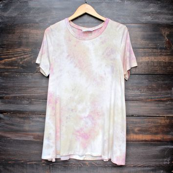 to dye for t shirt dress - pink tie dye