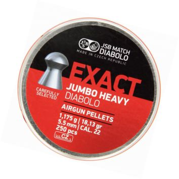 JSB Diabolo Jumbo Exact Heavy .22 Caliber Air  Pellets 250 ct.