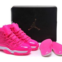 Hot Air Jordan 11 Retro Women Shoes Rose White