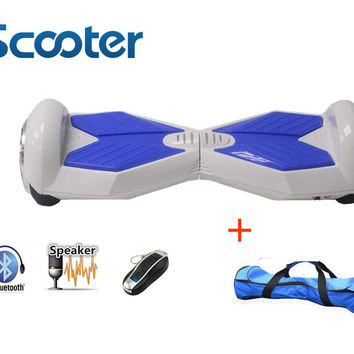 8inch Bluetooth hoverboard 2 Wheel Self balancing Electric Scooter two Smart Wheel with Remote key And LED Skateboard walk car