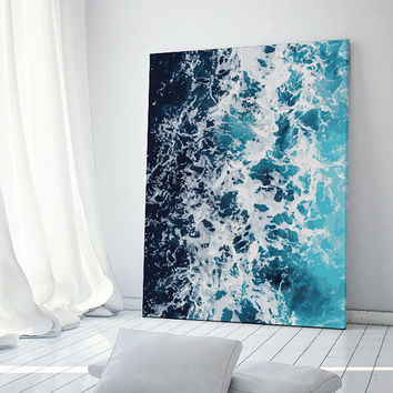 Ocean Print, Digital Painting, Ocean Art, Summer Printable, Ocean Foam, Sea Wall Art, Ocean Wall Art, Ocean Decor