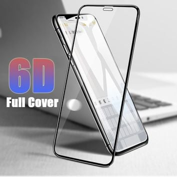 9H Hardness 6D Real Tempered Glass Shock-Proof Anti Fingerprint Glass Film For IPhone X 8 8 Plus 7 7 Plus 6s 6s Plus 6 6 Plus