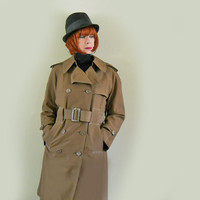 Vintage Trench Coat - 1960s Mod Fleet Street RainCoat