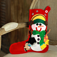 Personalized Christmas Stocking Snowman