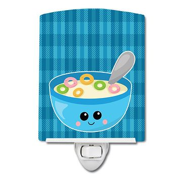 Blue bowl of Cereal Ceramic Night Light BB6845CNL
