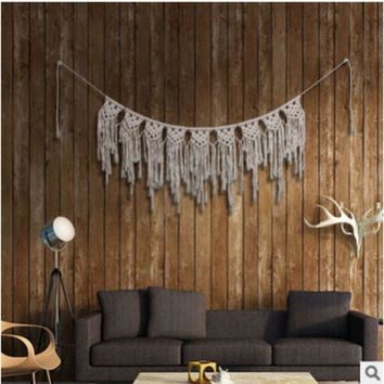 DCCKHC3 Pure hand-woven l-curtain tapestries home pendants Bohemian wedding decorative wall hangings decoration