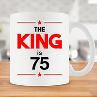 75th Birthday Mug 75th Bday Gift Ideas For Men Birthday Mug For Him Bday Present Birthday Coffee Mug 75 Years Old Ceramic Cup - BG248