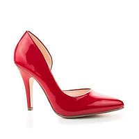 Mister By Delicious, Pointy Toe Side Half D'orsay Shank High Stiletto Heel Classy Pump