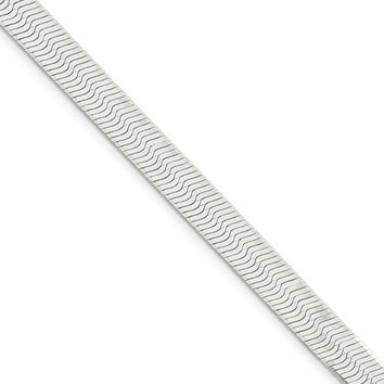 7mm, Sterling Silver Solid Herringbone Chain Necklace