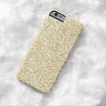 Cool Light Gold Glitter Barely There iPhone 6 Case