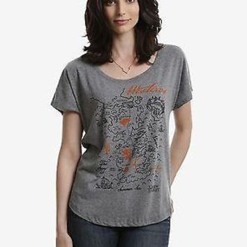 Game Of Thrones MAP OF WESTEROS Womens Dolman T-Shirt NWT Licensed & Authentic