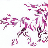 Tribal Horse Pink Tree Camo Heavy 5 Mil Vinyl Decal Truck/Car