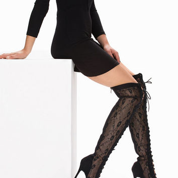 Thigh High Lace Boot, NLY Shoes