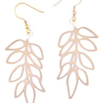 Climbing Vine Earrings - Brass