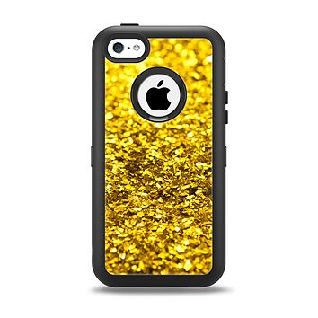 The Gold Glimmer Apple iPhone 5c Otterbox Defender Case Skin Set