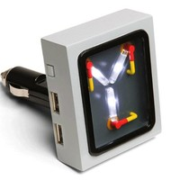 Back to the Future Flux Capacitor USB Car Charger - Compatible with anything that charges via USB (iPhones, smartphones, iPads, tablets, GPSes, etc.)