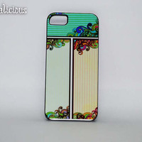 Decorative multipanel design iphone 5 case. iphone cover, vintage inspired design.