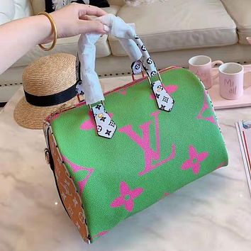 Louis Vuitton High Quality Women Fashion Leather Satchel Shoulder Bag Handbag Crossbody Fruit Green