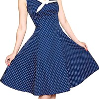 Sailor Dress in Navy Dot | Blame Betty