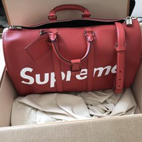 louis vuitton X Supreme duffel bag