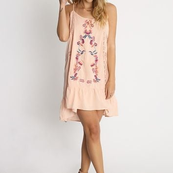 Tessa Embroidered Drop Waist Dress | Ruche