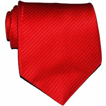 10cm Width Brand New Classic Solid Color Striped Ties For Men Jacquard Woven 100% Silk Tie Wedding Party Men's Tie Necktie Red