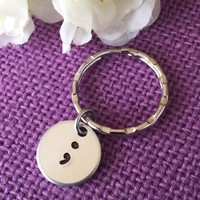 Semicolon Jewelry - Semicolon Keychain - Suicide Awareness - Suicide Prevention - Semicolon - Motivation