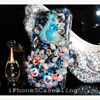 iPhone 4 Case, iPhone 4s Case, iPhone 5 Case, iPhone 5S case, iPhone 5C case, iPhone 5 bling case, Bling iphone 4 case, peacock iphone case