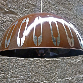 Brown Danish hanging lamp from the -60-70's