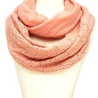 Daisy Crochet Panel Infinity Scarf: Charlotte Russe