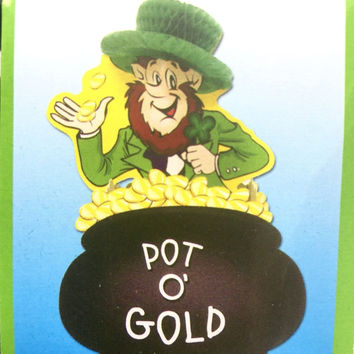 Lucky Leprechaun Center Piece ST. Patrick's Day Party Decoration New