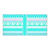 Bright Turquoise Tribal Binders