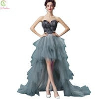 2017 SSYFashion Sexy Off-the-shoulder Short Front Back Long Black Feathers Prom Dresses The Bride Banquet Party Cocktail Dress
