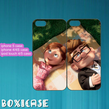 Best Friends,Carl and Ellie--iphone 4 case,iphone 5 case,ipod touch 4 case,ipod touch 5 case,in plastic,silicone,cute iphone 5 case.