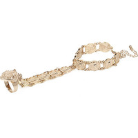 River Island Womens Gold tone coin hand harness