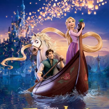 TANGLED Poster | 24 x 36 Inch | Disney World | Mickey mouse | Movie Poster | Disneyland