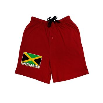 Jamaica Flag Dark Adult Lounge Shorts
