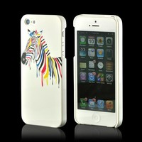 Nex Artsy Zebra Hard Case w/ Screen Protector for Apple iPhone 5