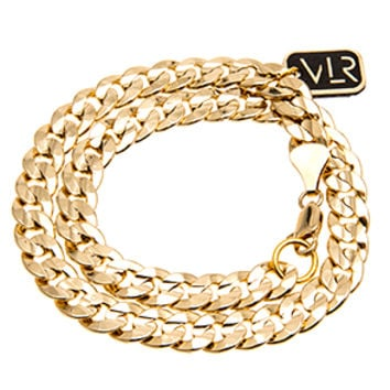 The 14k Gold Plated Curb Chain Wrap Bracelet