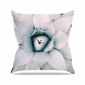"Chelsea Victoria ""Northern Star "" Green Floral Throw Pillow"